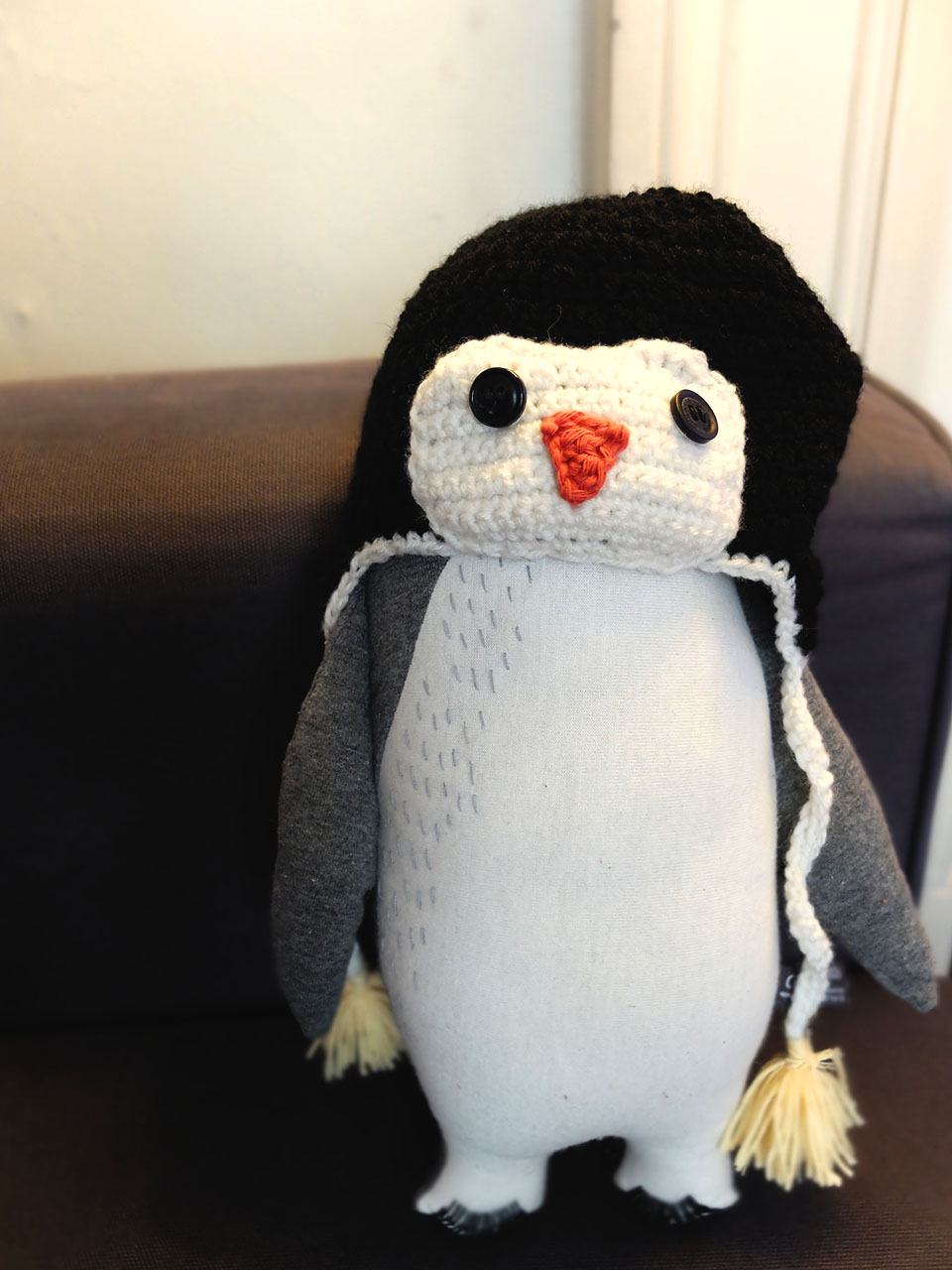 tuto bonnet pingouin crochet