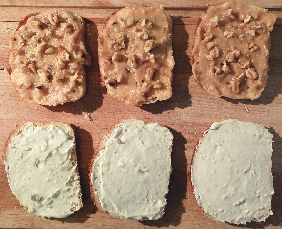 club sandwich roquefort pommes et noix