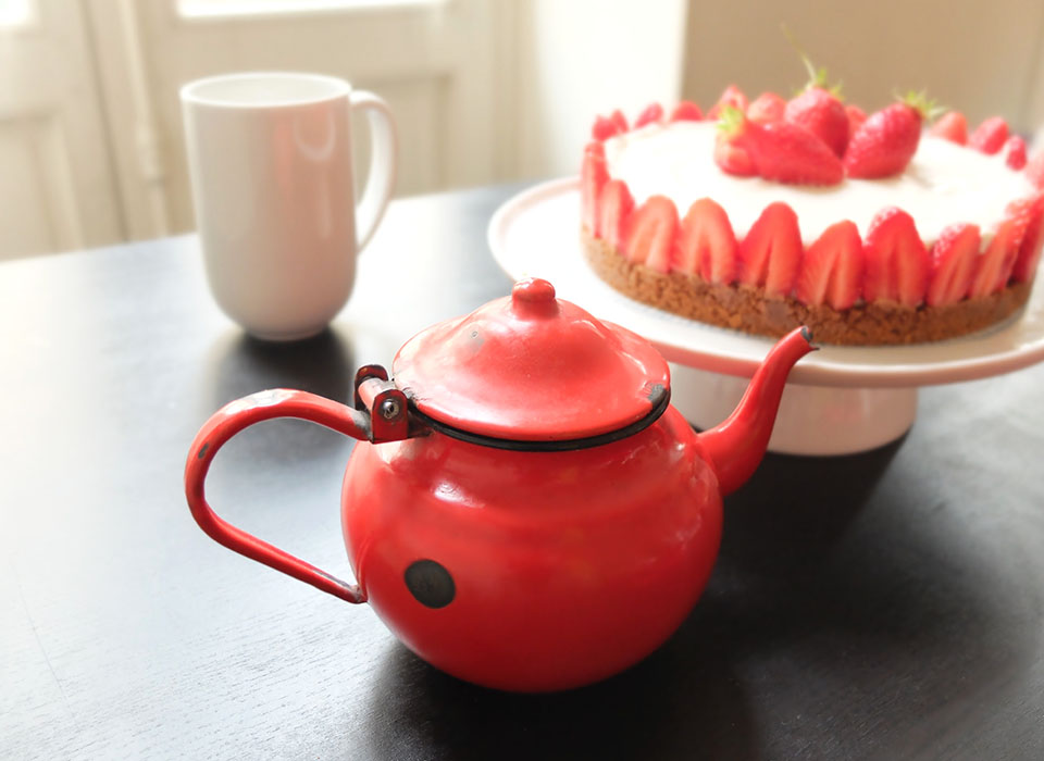 cheesecake sans cuisson fraise thé