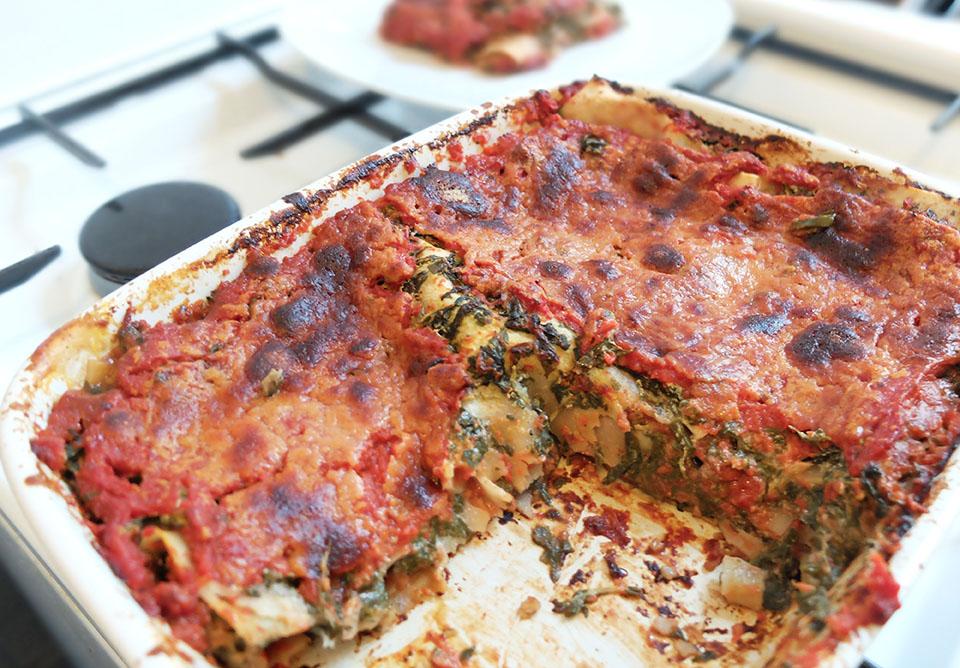 lasagnes vegetariennes blette chevre