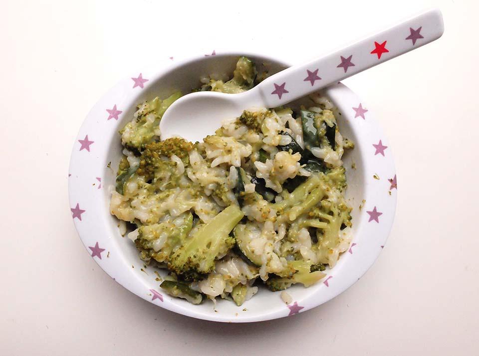 risotto brocoli courgette chevre bebe