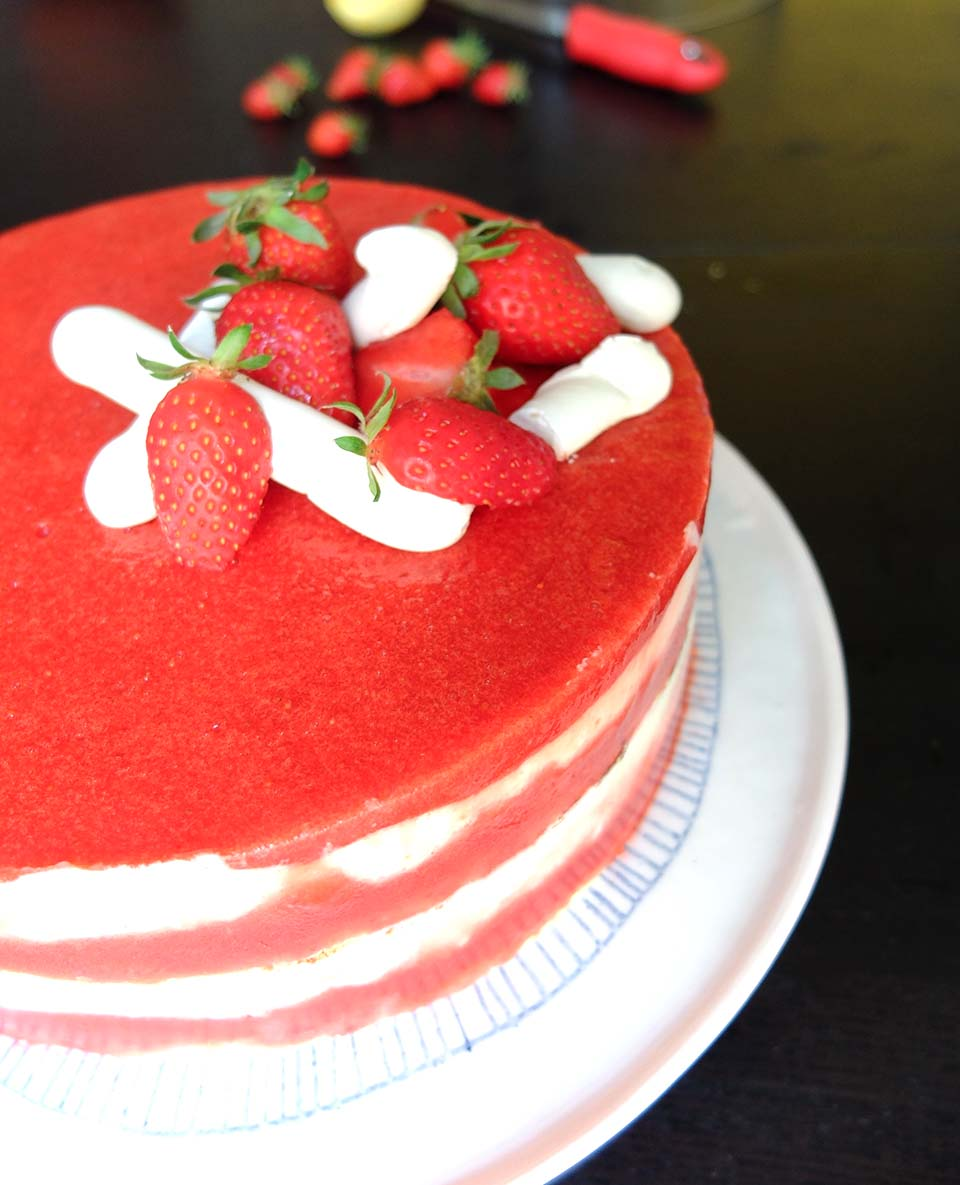 tiramisu fraise entremet