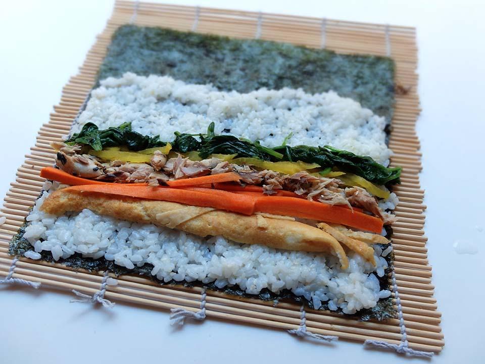 gimbap sushi coréen