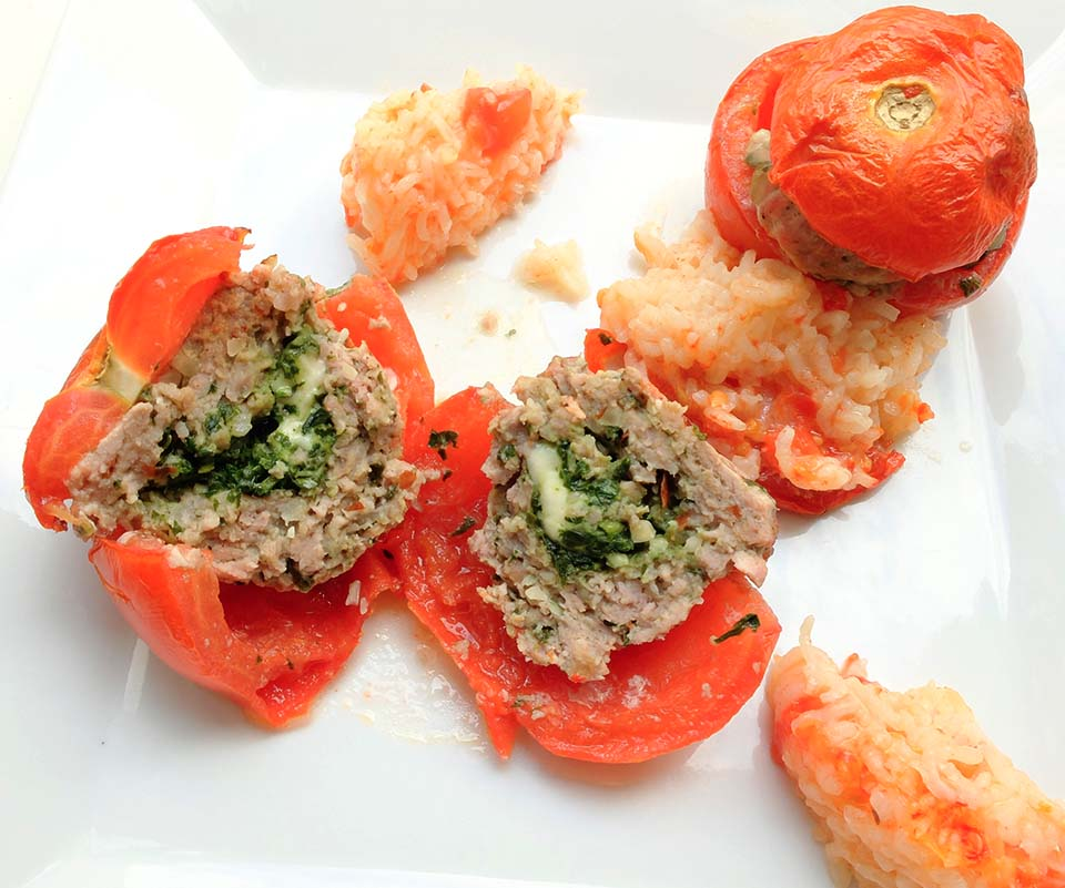 tomates farcies pesto