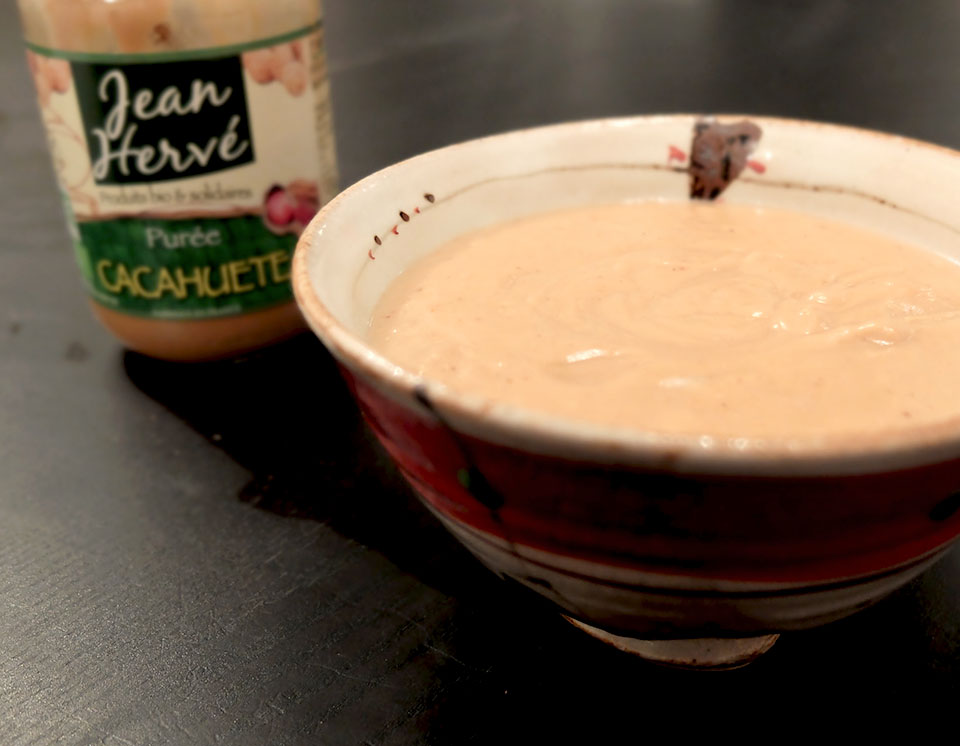 sauce cacahuète asiatique