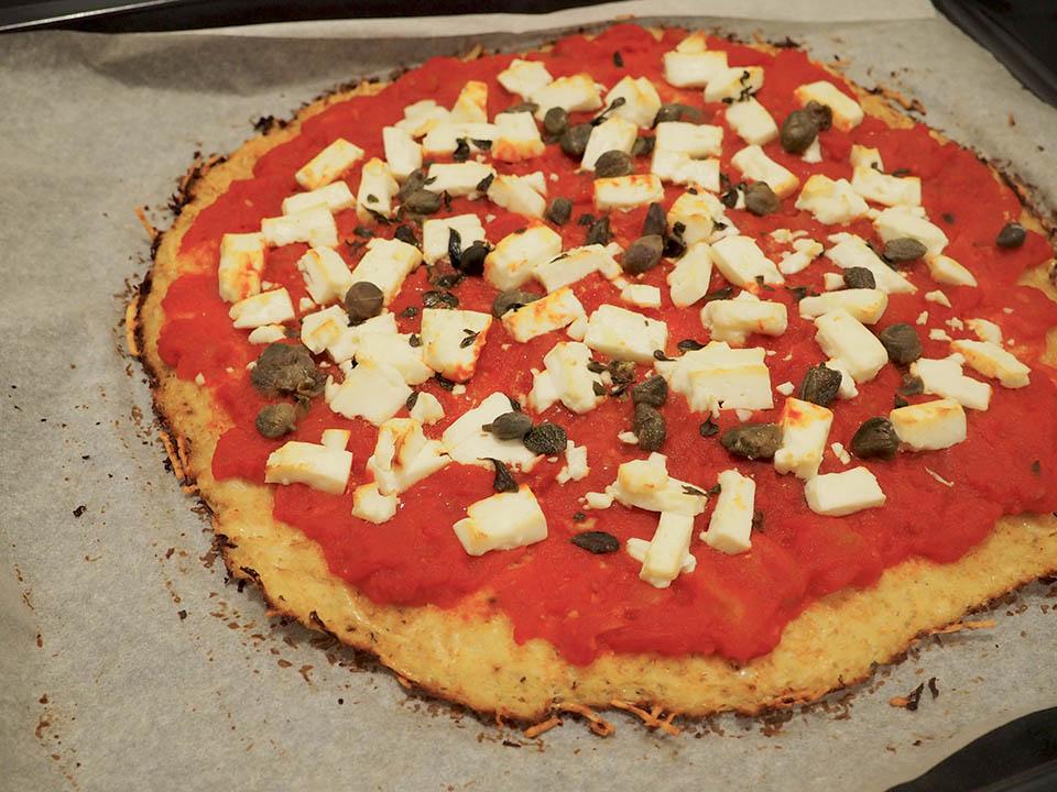 pizza chou fleur
